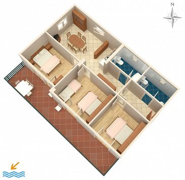 Apartment A-4968-a - Apartments Banjol (Rab) - 4968
