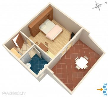 Studio flat AS-4992-c - Apartments and Rooms Supetarska Draga - Donja (Rab) - 4992