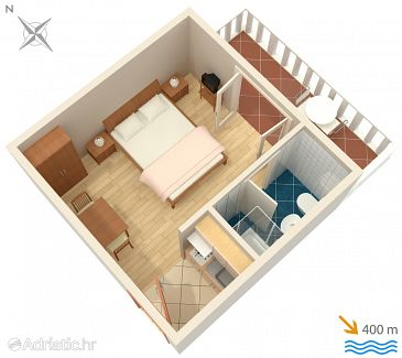 Studio flat AS-5015-a - Apartments Barbat (Rab) - 5015
