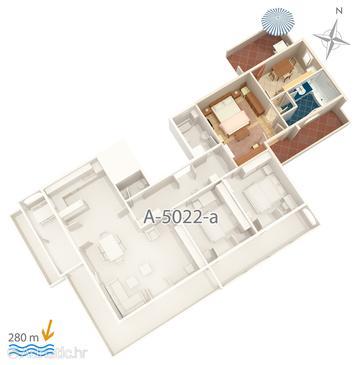 Apartment A-5022-b - Apartments and Rooms Banjol (Rab) - 5022