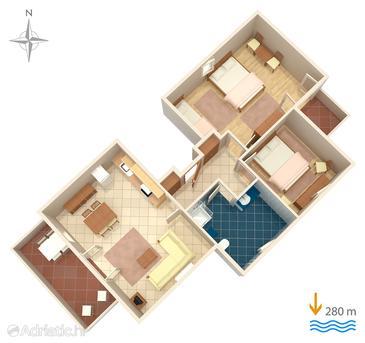 Apartment A-5022-d - Apartments and Rooms Banjol (Rab) - 5022