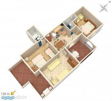 Apartment A-5050-a - Apartments Suha Punta (Rab) - 5050