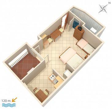 Studio AS-5050-b - Apartamenty Suha Punta (Rab) - 5050