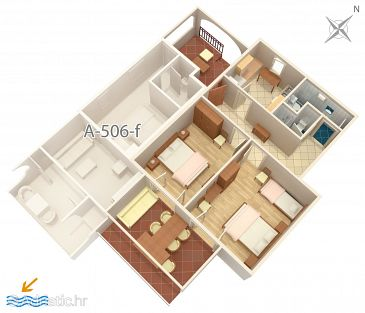 Apartment A-506-a - Apartments Brist (Makarska) - 506