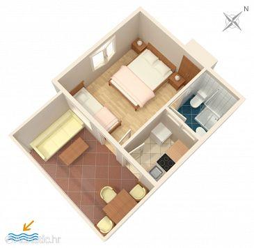 Brist, Plan u smještaju tipa apartment, dopusteni kucni ljubimci i WIFI.