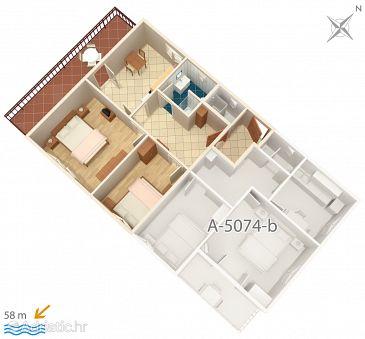 Apartment A-5074-a - Apartments Jezera (Murter) - 5074