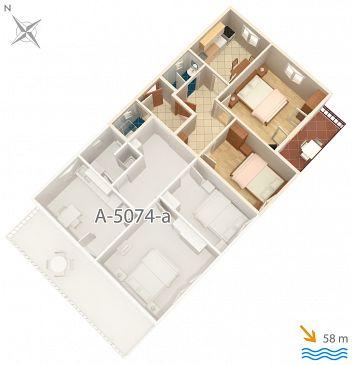 Apartament A-5074-b - Apartamenty Jezera (Murter) - 5074