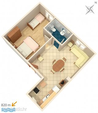 Apartment A-5100-c - Apartments Murter (Murter) - 5100