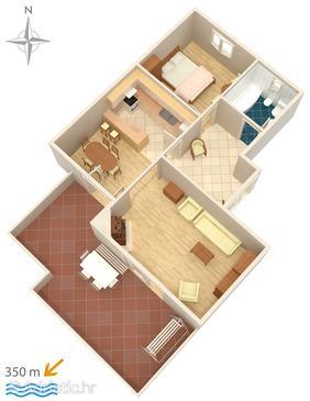 Appartamento A-512-a - Appartamenti affitto Makarska (Makarska) - 512
