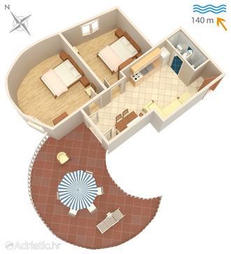 Apartment A-5120-c - Apartments Jezera (Murter) - 5120