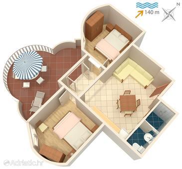 Apartment A-5120-d - Apartments Jezera (Murter) - 5120