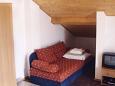 Jezera, Living room u smještaju tipa studio-apartment, dostupna klima, dopusteni kucni ljubimci i WIFI.