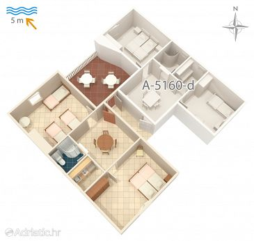 Apartment A-5160-c - Apartments and Rooms Seget Vranjica (Trogir) - 5160