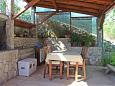 Uvala Piškera, Terrace u smještaju tipa studio-apartment, s pogledom na more i WIFI.
