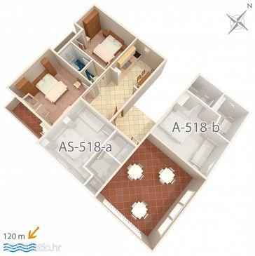 Apartmán A-518-a - Ubytovanie Podgora (Makarska) - 518