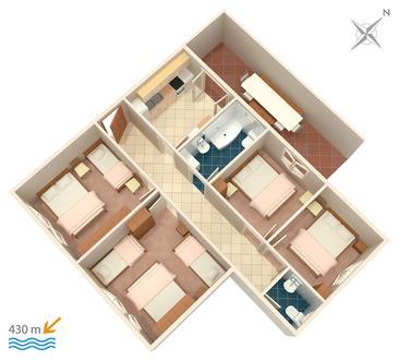 Apartament A-5198-a - Apartamenty Gradac (Makarska) - 5198