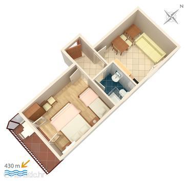 Apartment A-5198-c - Apartments Gradac (Makarska) - 5198