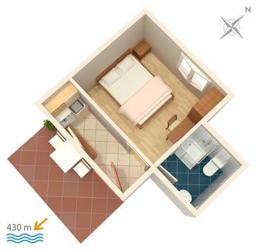 Studio AS-5198-a - Apartamenty Gradac (Makarska) - 5198