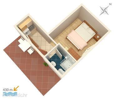 Studio flat AS-5198-c - Apartments Gradac (Makarska) - 5198