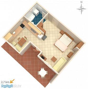 Studio flat AS-5225-a - Apartments Podstrana (Split) - 5225