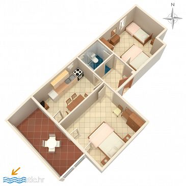 Apartment A-523-d - Apartments Mandre (Pag) - 523