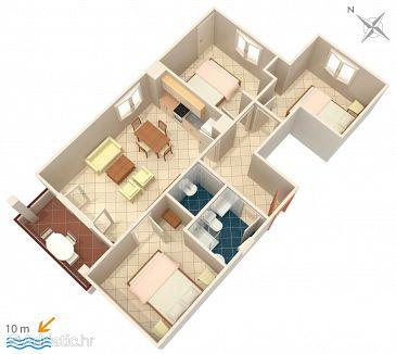 Apartment A-5231-a - Apartments Uvala Pokrivenik (Hvar) - 5231