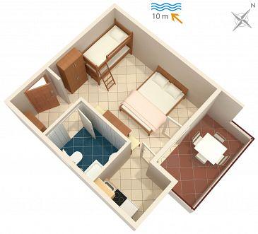 Studio AS-5231-c - Apartamenty Uvala Pokrivenik (Hvar) - 5231