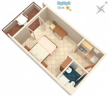 Studio flat AS-5231-d - Apartments Uvala Pokrivenik (Hvar) - 5231