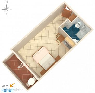 Studio flat AS-5239-b - Apartments Stomorska (Šolta) - 5239