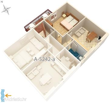 Apartment A-5242-b - Apartments Milna (Brač) - 5242