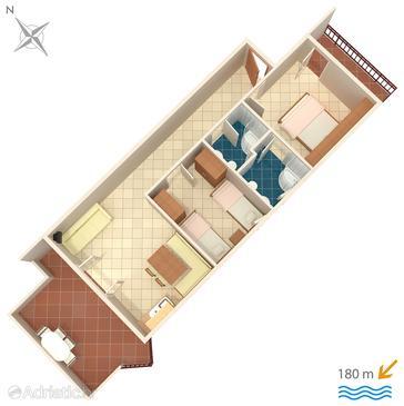 Apartment A-5244-c - Apartments Okrug Donji (Čiovo) - 5244