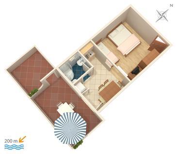 Studio flat AS-5246-a - Apartments Omiš (Omiš) - 5246