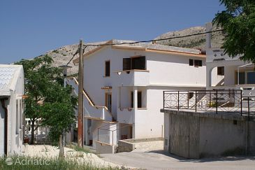 Property Metajna (Pag) - Accommodation 525 - Apartments with sandy beach.