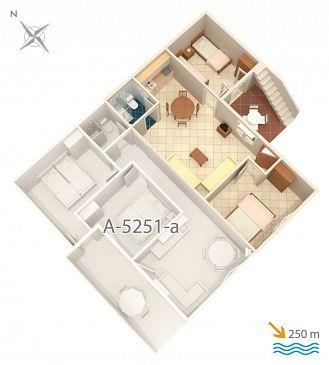 Apartament A-5251-b - Apartamenty Mimice (Omiš) - 5251