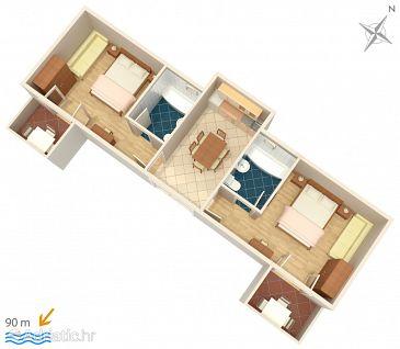Apartment A-5266-a - Apartments Igrane (Makarska) - 5266