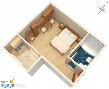 Studio flat AS-5266-c - Apartments Igrane (Makarska) - 5266