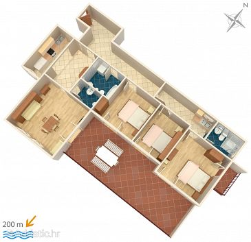 Apartment A-5281-a - Apartments Medići (Omiš) - 5281