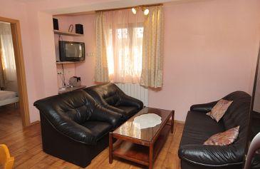 Selce, Living room u smještaju tipa apartment, dostupna klima, dopusteni kucni ljubimci i WIFI.