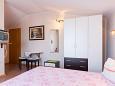Krk, Bedroom u smještaju tipa room, dostupna klima i WIFI.