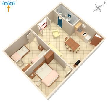 Apartment A-5309-a - Apartments Njivice (Krk) - 5309
