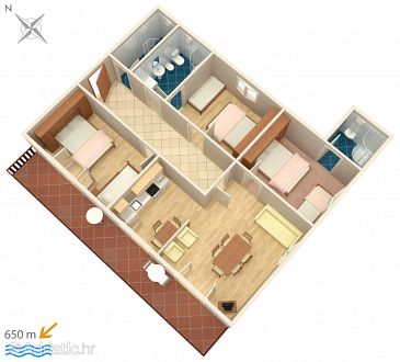 Apartment A-5363-a - Apartments and Rooms Punat (Krk) - 5363