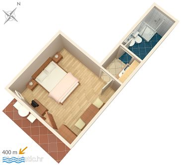 Studio flat AS-5381-a - Apartments Krk (Krk) - 5381