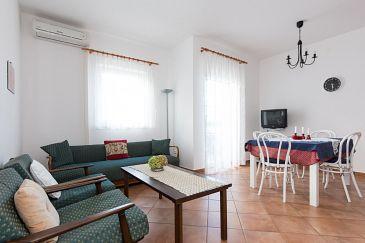 Punat, Living room u smještaju tipa apartment, dostupna klima i WIFI.