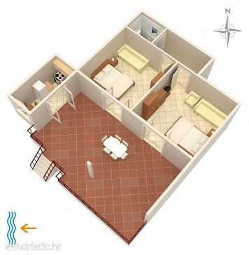 Apartment A-5414-b - Apartments and Rooms Punat (Krk) - 5414