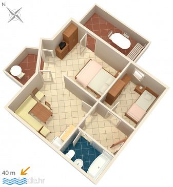 Apartment A-5419-c - Apartments Punat (Krk) - 5419