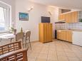 Krk, Kitchen u smještaju tipa studio-apartment, dopusteni kucni ljubimci i WIFI.