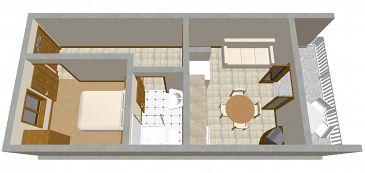 Apartament A-544-a - Apartamenty Prigradica (Korčula) - 544