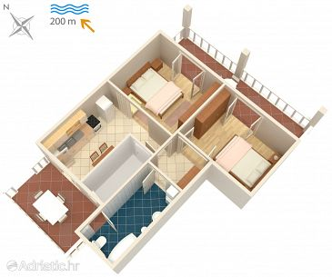 Apartment A-5456-a - Apartments Malinska (Krk) - 5456