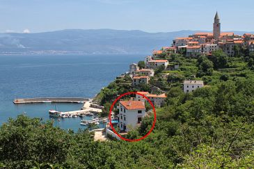 Property Vrbnik (Krk) - Accommodation 5459 - Apartments near sea with pebble beach.
