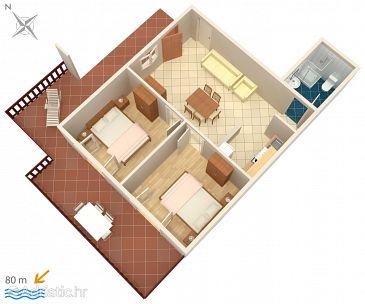 Apartament A-547-d - Apartamente și camere Zavalatica (Korčula) - 547